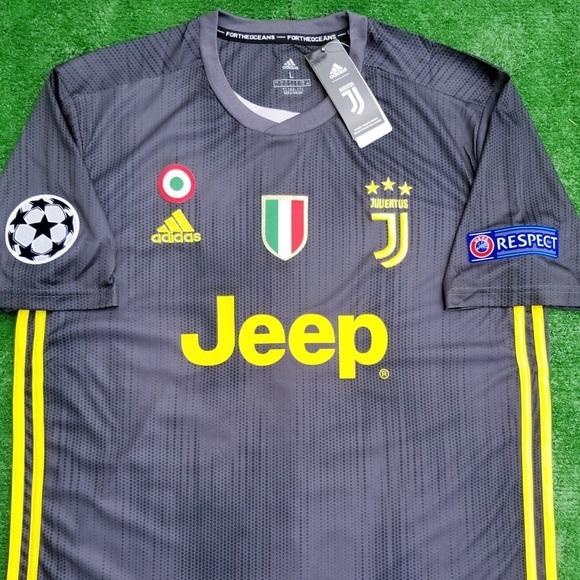 7b6921a32 2018 19 Juventus 3rd kit soccer jersey Ronaldo